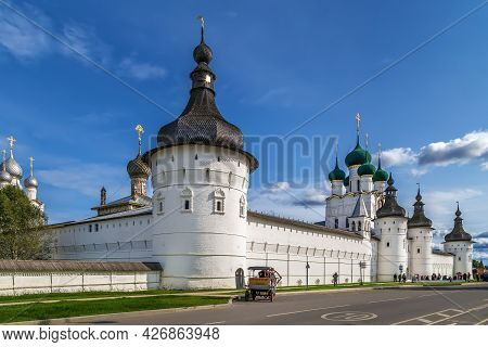 View Of Rostov Kremlin From Street, Russia