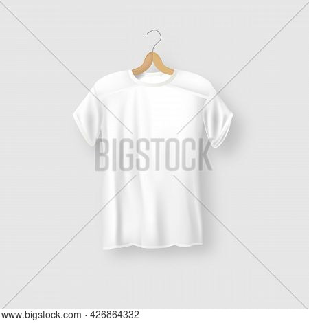 Mock-up T-shirt Sport Template Advertising Store Fashion Casual Apparel White