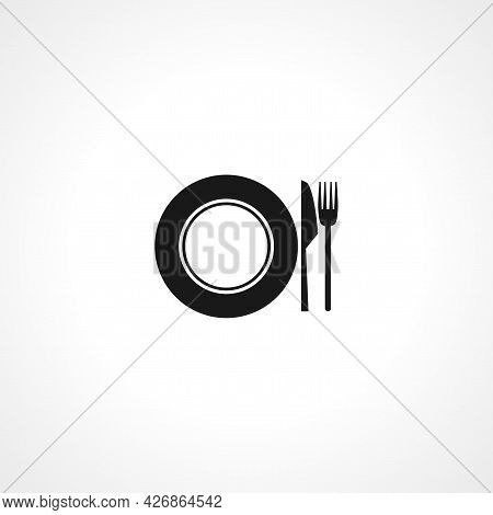 Fork Knife Restaurant Icon. Fork Knife Isolated Simple Vector Icon