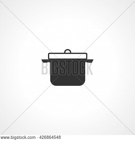 Pan Cooking Icon. Pan Isolated Simple Vector Icon