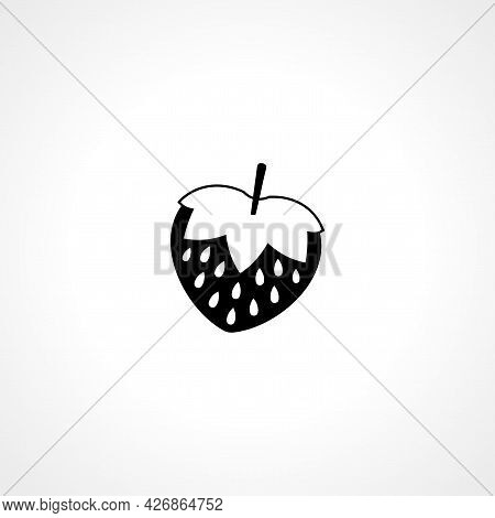 Strawberry Icon. Strawberry Isolated Simple Vector Icon
