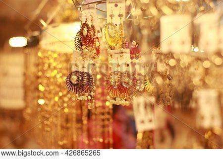 Jewelry On Window Display  In Barisal, Bangladesh