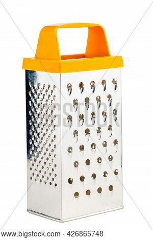 Vegetable Grater On A White Isolated Background. Kitchen Grater Close-up.