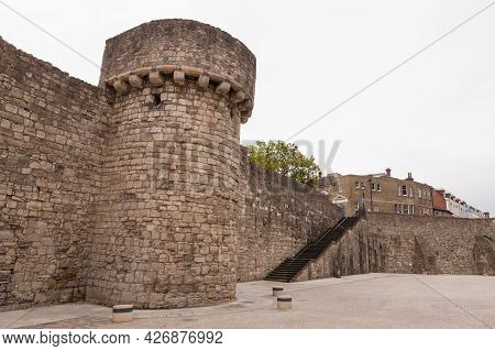 Southampton Old Town Walls, It Is A Sequence Of Defensive Structures Built Around The Town In Southe