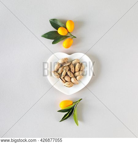 Healthy Food Concept. Immunity Boosting Products, Top View. Square