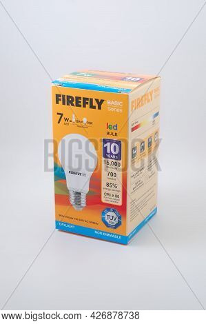 Manila, Ph - July 14 - Firefly 7 Watts Led Light Bulb On July 14, 2021 In Manila, Philippines.