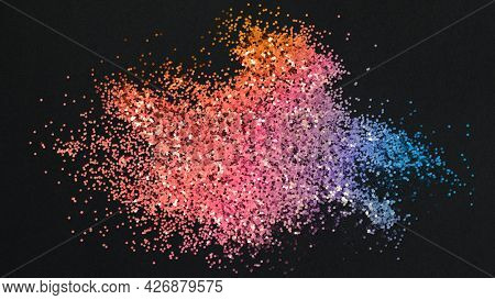 Dusty pink and blue particles pattern background illustration