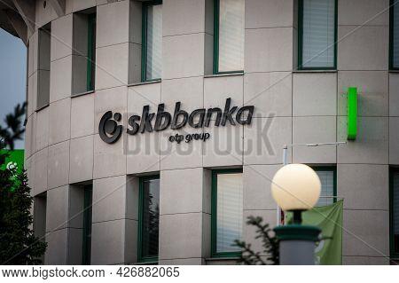 Ljubljana, Slovenia - June 12, 2021: Skb Banka  Logo On Their Ljbljana Office. Skb Group Banka, Part