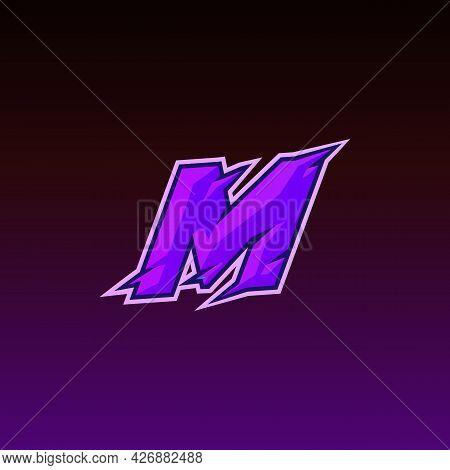 Initial M Esport Logo Design Template Inspiration