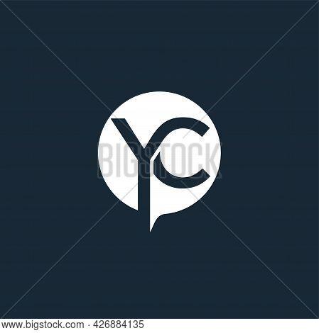 Yc Or Cy Logo. Company Logo. Monogram Design. Letters Y And C.