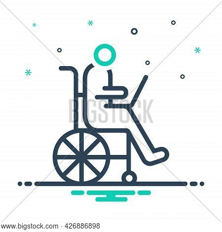 Mix Icon For Accessibility Disability Wheelchair Accommodation Handicap Physically Mobility