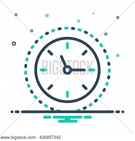Mix Icon For Around-the-clock Time-is-running Reminder Schedule Countdown Hour Quick Clock Time Devi