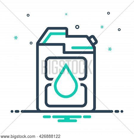 Mix Icon For Diesel Fuel Gasoline Petrol Pump Jerrycan Canister Automobile Refueling