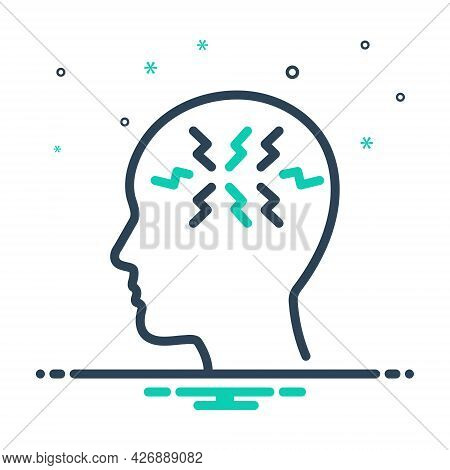 Mix Icon For Ptsd Post-traumatic-stress-disorder Symptoms Mental Health Anxiety-disorder Shell-shock