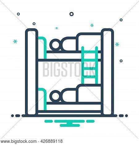 Mix Icon For Hostel Dormitory Hostel Dorm Bedroom Dormer Hotel Residential Sleep