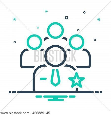 Mix Icon For Preferential Personnel Staff People Worker Group Employee Authorized Community Manageme