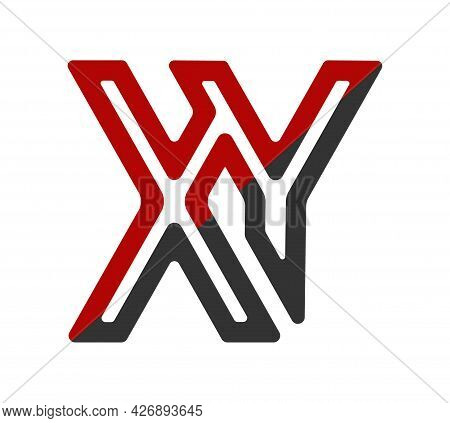 Stylized Lowercase Letters X And Y, Connected By A Single Line For Logo, Monogram And Creative Desig