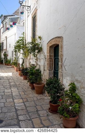 The Charming And Romantic Historic Old Town Of Polignano A Mare, Apulia, Southern Italy