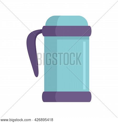 Vacuum Insulated Bottle Icon. Flat Illustration Of Vacuum Insulated Bottle Vector Icon Isolated On W