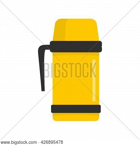 Vacuum Insulated Cup Icon. Flat Illustration Of Vacuum Insulated Cup Vector Icon Isolated On White B