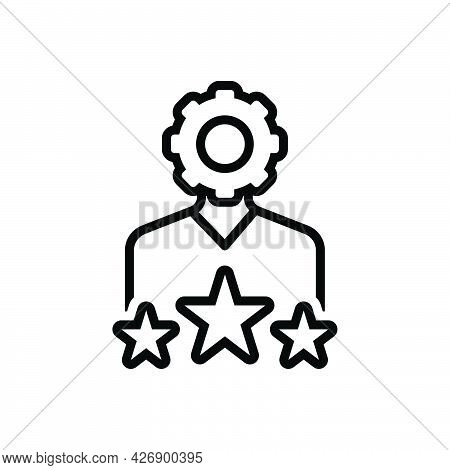 Black Line Icon For Expertise Ability Expertness Skillfulness Talent Favorite