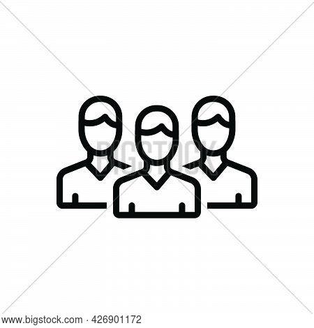 Black Line Icon For Peers Associate Partner Fellow Friends Team Group