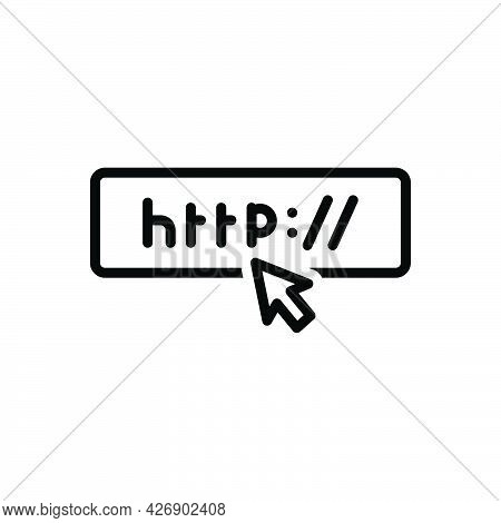 Black Line Icon For Urls Browser Website Homepage Http Hosting Page