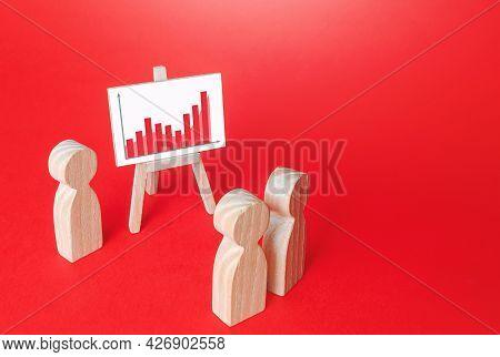 People At Report Presentation. Summarizing. Analysis Of Companys Economic Performance. Marketing Res
