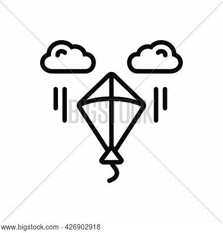 Black Line Icon For Makar-sankranti Kite Fly Freedom Holiday Sankranti Festival Culture
