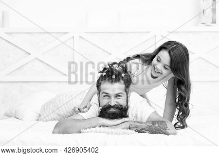 Family Love Relationship Of Daughter Girl And Bearded Father Spend Free Time Together, Togetherness