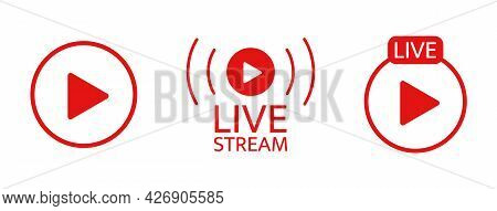 Live Stream Icon Set. Broadcats Online Video. Tv Show Sign. Social Media Live Chart. News Frame. Usi
