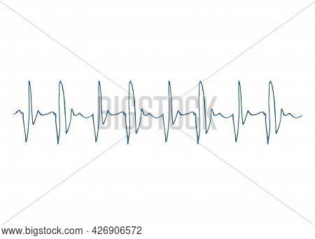 Heart Disease Cardiogram. Heartbeat Line. Cardiogram. Electrocardiogram. Ecg Line. Heart Pulse Monit