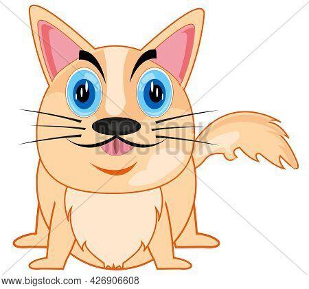 Vector Illustration Of The Cartoon Amusing Animal Dog