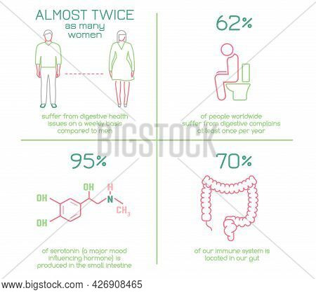 Why Gut Health Matters. Vector Landscape Poster.