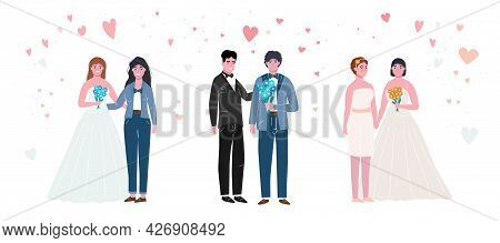 Unconventional Wedding Collection. Lesbian, Gay, Bisexual, Transgender People Marriage.