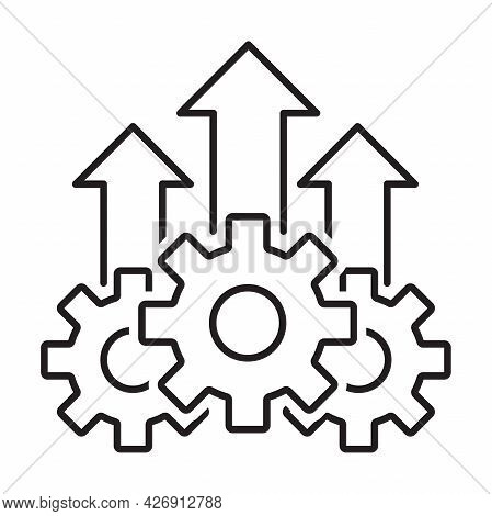 Growth Product Icon Vector Operational Excellence Symbol Cost Efficiency Sign For Your Web Site Desi