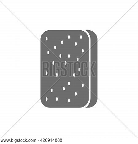 Cleaning Sponge, Washing Sponge, Professional Cleaning Supplies Grey Icon.