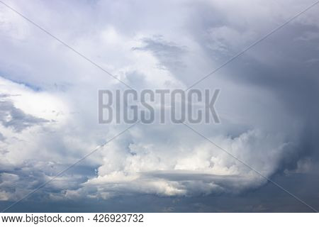 Picturesque Dark Gray Storm Clouds On June Day