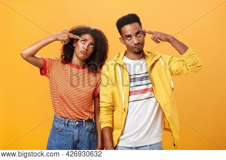 Pair Of African American Lovers Getting Annoyed With Parents Scolding, Teaching Them How Live Sexual