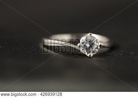 Platinum Diamond Ring. Ring Love. Photo. Silver