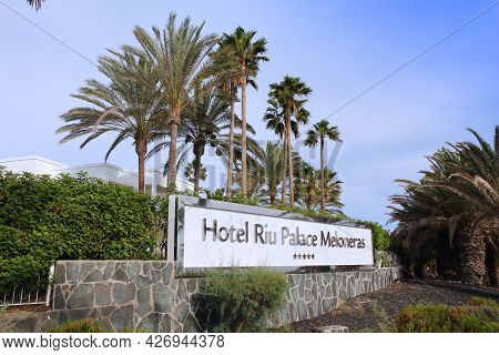 Gran Canaria, Spain - December 6, 2015: Exterior View Of Hotel Riu Palace Meloneras In Gran Canaria,
