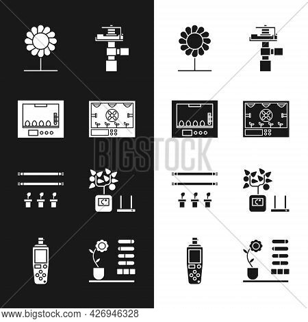 Set Smart Farming Technology, Incubator For Eggs, Flower, Automatic Irrigation Sprinklers, With Bulb