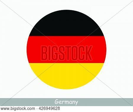 Germany Round Circle Flag. German Circular Button Banner Icon. Deutschland Eps Vector