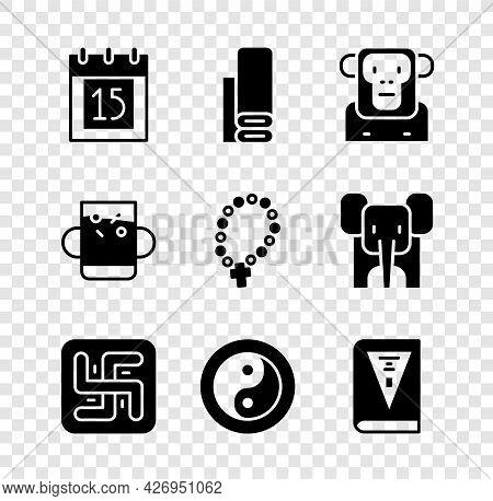 Set Independence Day India, Indian Textile Fabric, Monkey, Hindu Swastika, Yin Yang, Constitution, C