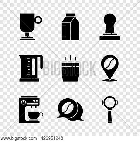 Set Irish Coffee, Bag Beans, Coffee Tamper, Machine, And Conversation, Filter Holder, Electric Kettl