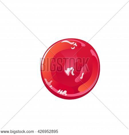Tomato Ketchup Splash, Stain Or Drop. Red Food Condiment. Vector Element In Flat Cartoon Style.