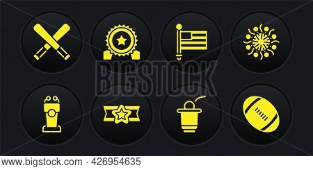 Set Stage Stand Or Tribune, Firework, Star American Military, Beer Pong Game, Flag, Medal With Star,
