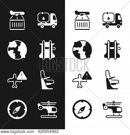 Set Parachute, Worldwide, Plane, Fuel Tanker Truck, Warning Aircraft, Airplane Seat, Helicopter And