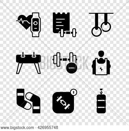 Set Smart Watch With Heart, Sport Training Program, Gymnastic Rings, Socks, Fitness App, Punching Ba