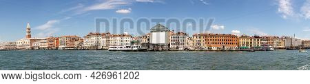 Venice, Italy - July 1, 2021: View To San Marco Square With Facade Of The Doge's Palace And The Prom